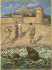 Hans Thoma Hercule délivrant Hésione